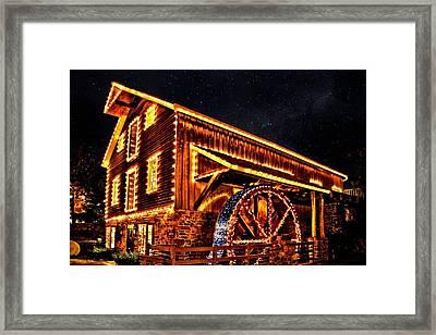 A Mill In Lights Framed Print
