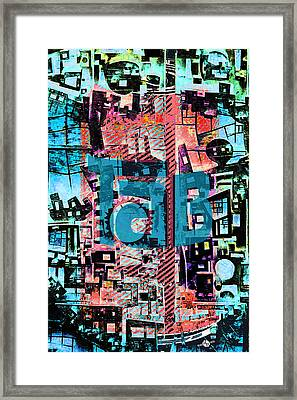 Framed Print featuring the mixed media A Million Colors One Calorie by Tony Rubino