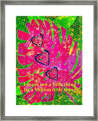 A Million Little Things  Framed Print by ARTography by Pamela Smale Williams