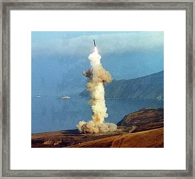 A Minuteman IIi Intercontinental Framed Print by Everett