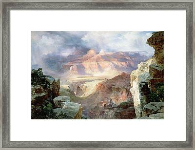 A Miracle Of Nature Framed Print by Thomas Moran