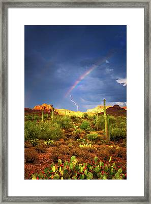 A Miracle Of Timing Framed Print