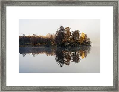 A Misty Autumn Framed Print