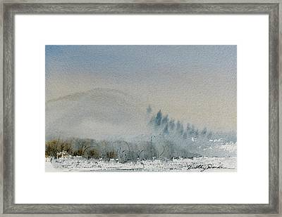 A Misty Morning Framed Print