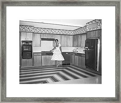 A Model Kitchen Display Framed Print