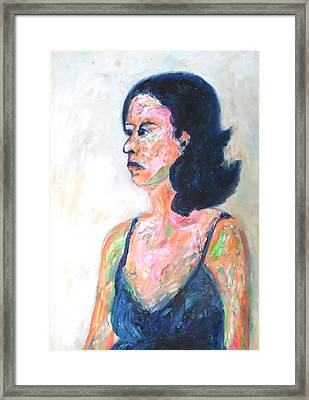 A Modern Madame Bovary Framed Print by Esther Newman-Cohen