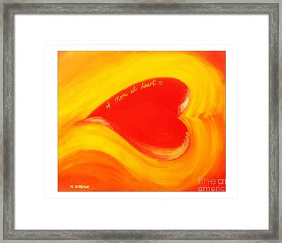 A Mom At Heart Framed Print by Nathan Rodholm