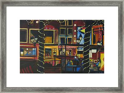 Framed Print featuring the painting A Moment In Dam by Patricia Arroyo