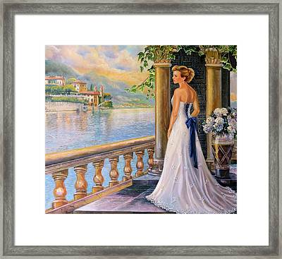 A Moment In Thought Framed Print