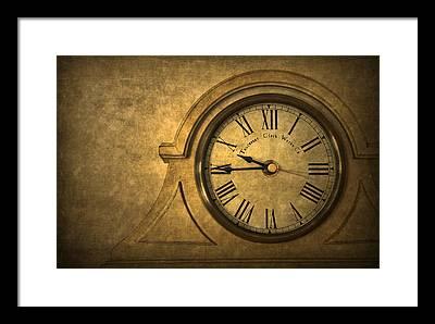 Old Clock Framed Prints