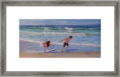 A Moment In Time Framed Print by Laura Lee Zanghetti