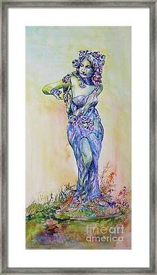 Framed Print featuring the painting A Moment In Time by Mary Haley-Rocks