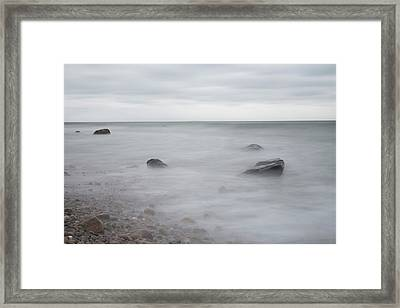 A Moment In Time On The Beach Framed Print by Andrew Pacheco