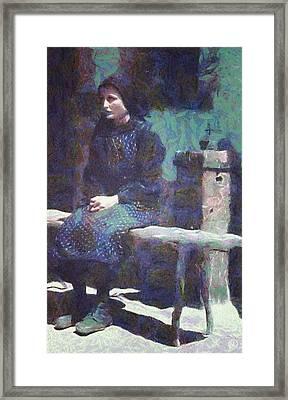 Framed Print featuring the digital art A Moment Of Meditation by Gun Legler