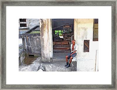 A Moment Of Reflection Framed Print by Gary Wonning