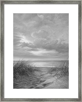 A Moment Of Tranquility - Black And White Framed Print by Lucie Bilodeau