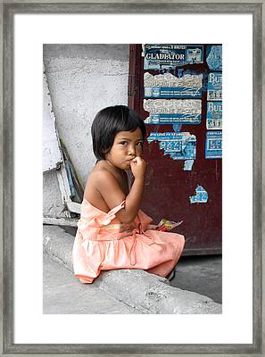 A Moment To Chew 2 Framed Print by Jez C Self