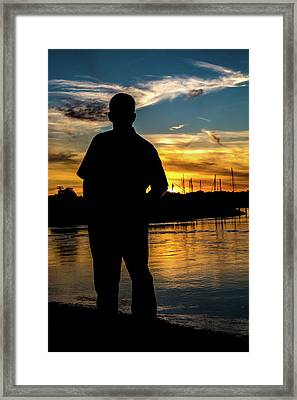 A Moment To Reflect Framed Print by Karol Livote