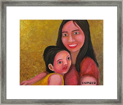 A Moment With Mom Framed Print by Cyril Maza