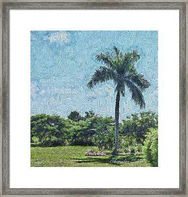 A Monet Palm Framed Print
