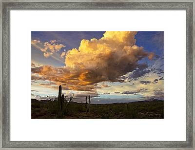 A Monsoon Sunset  Framed Print by Saija  Lehtonen