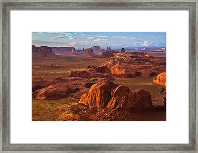A Monumental View Framed Print by Guy Schmickle