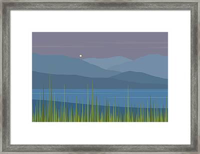 A Moon Rise After The Rain Framed Print