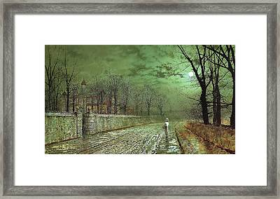 A Moonlit Evening Framed Print by John Grimshaw