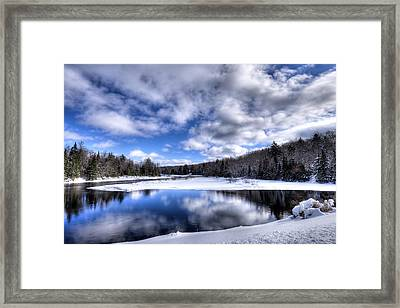 Framed Print featuring the photograph A Moose River Snowscape by David Patterson