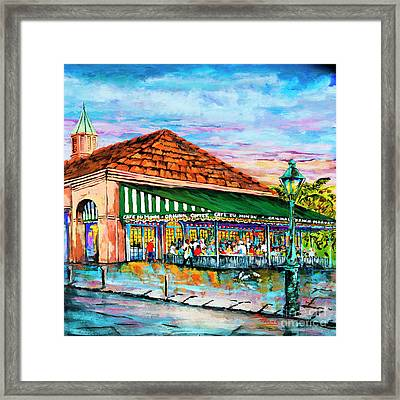 A Morning At Cafe Du Monde Framed Print