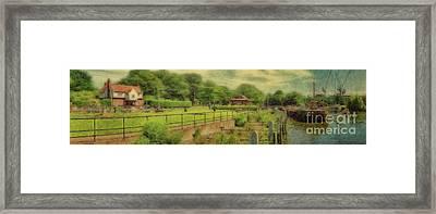 A Morning At Teddington Lock Framed Print