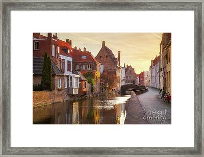 A Morning In Brugge Framed Print by JR Photography