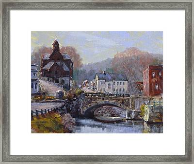 A Morning In Wilton Framed Print