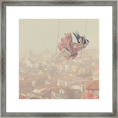 a morning over Oporto Framed Print by Anka Zhuravleva