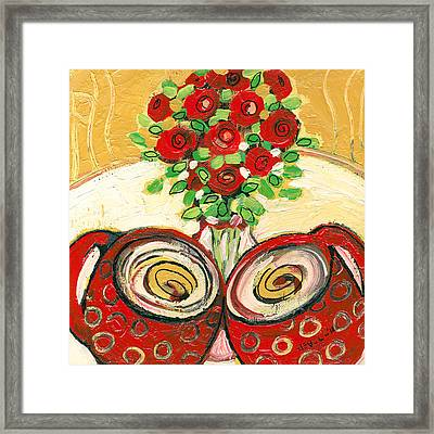 A Morning Toast To Romance Framed Print by Jennifer Lommers