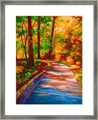 A Morning Walk Framed Print