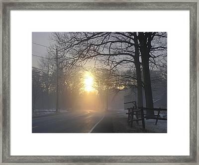 A Morning Framed Print