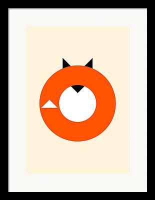 Fox Digital Art Framed Prints