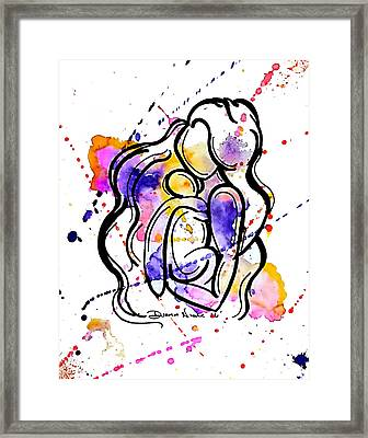 A Mother's Love Framed Print by Diamin Nicole