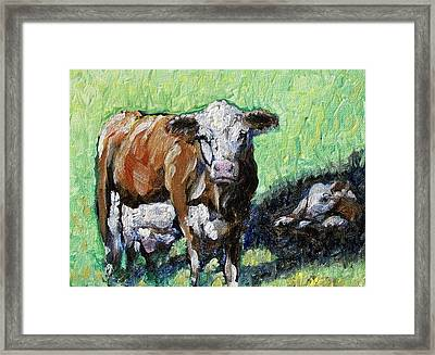 A Mother's Love Framed Print by Sheila Tajima