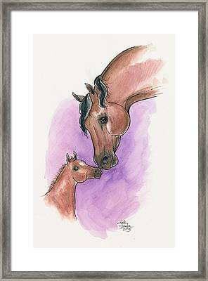 A Mother's Love, Uc Lyric And Her Foal, Uc Ringmaster Framed Print by Helen Scanlon