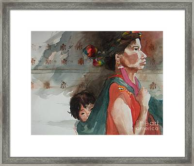 A Mother's Resolve Framed Print by Elizabeth Carr