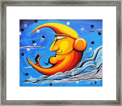 A Mother's Touch Framed Print by Pedro Flores