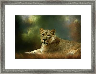 A Mother's Watch Framed Print
