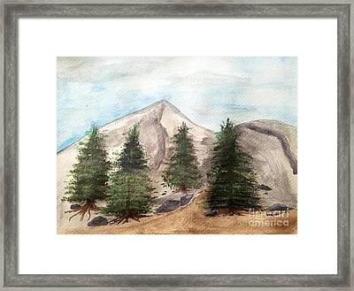 A Mountain Road Framed Print by Scott D Van Osdol