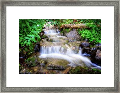 A Mountain Stream Pleases Me More Than The Sea Framed Print