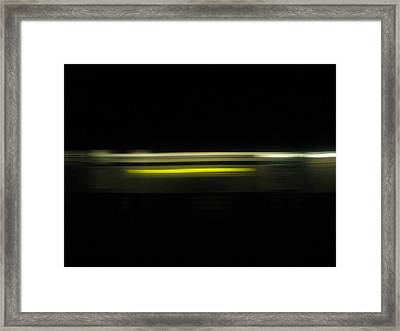 A Moving Train  Framed Print by Hasani Blue