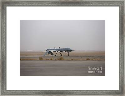 A Mq-1c Warrior Taxis Out To The Runway Framed Print by Terry Moore