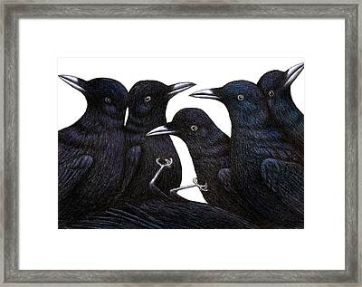 A Murder Of Crows Framed Print by Don McMahon