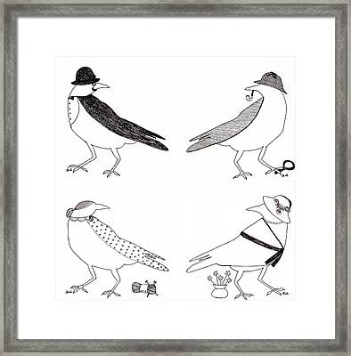 A Murder Of Crows Framed Print by Ekta Gupta